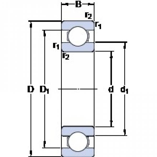 SKF 306674 deep groove ball bearings #1 image
