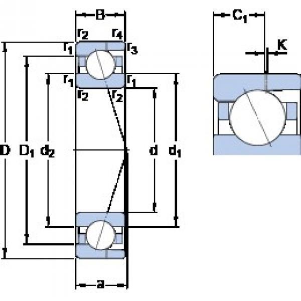 SKF 7003 CD/HCP4AH angular contact ball bearings #1 image
